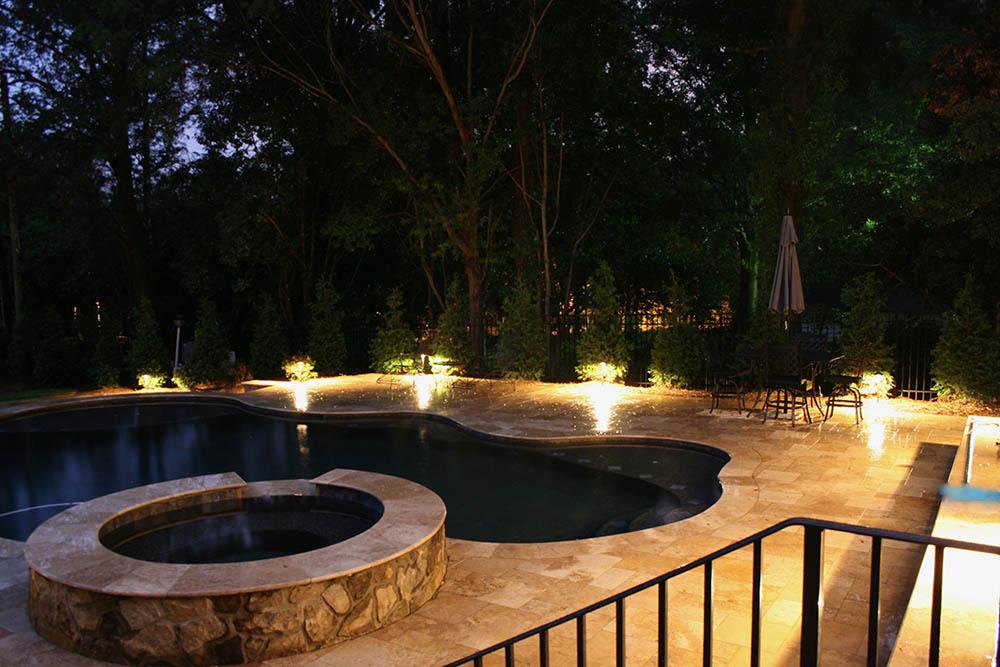 Charleston SC outdoor pool lighting design